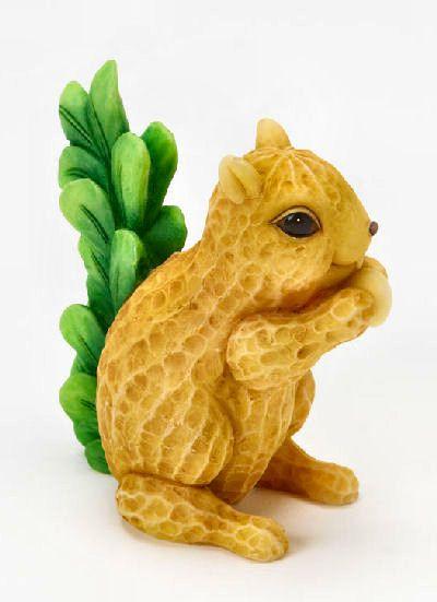 Home Grown Veggie Animal Figurine Peanut Squirrel