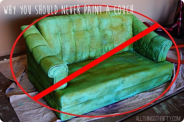 Bad Ideas By Brooke {Never Paint A Couch (LOL! I Could Have Told