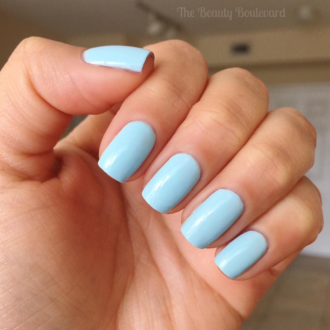 Maybelline Super Stay Gel In Sea Sky Is A Baby Blue Nail Polish
