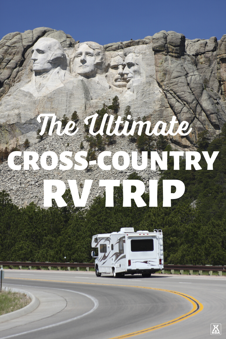 Cross Country Rv Itinerary Koa Campgrounds Cross Country Road Trip Road Trip Itinerary