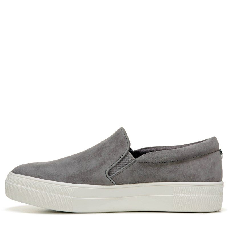 33b77e615be Steve Madden Women s Gills Platform Slip On Sneakers (Grey Suede ...