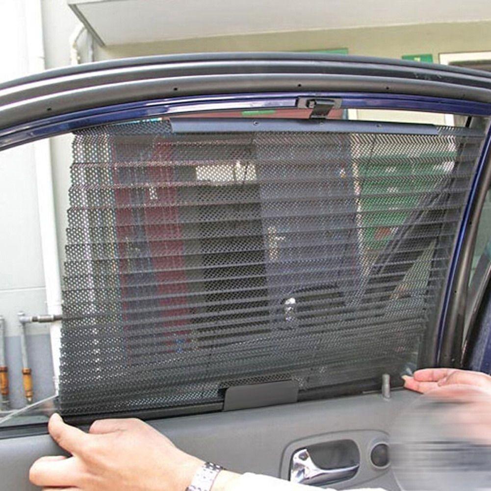 hot car window sunshade curtain black side rear window mesh visor shield 60cm x 46cm side window. Black Bedroom Furniture Sets. Home Design Ideas