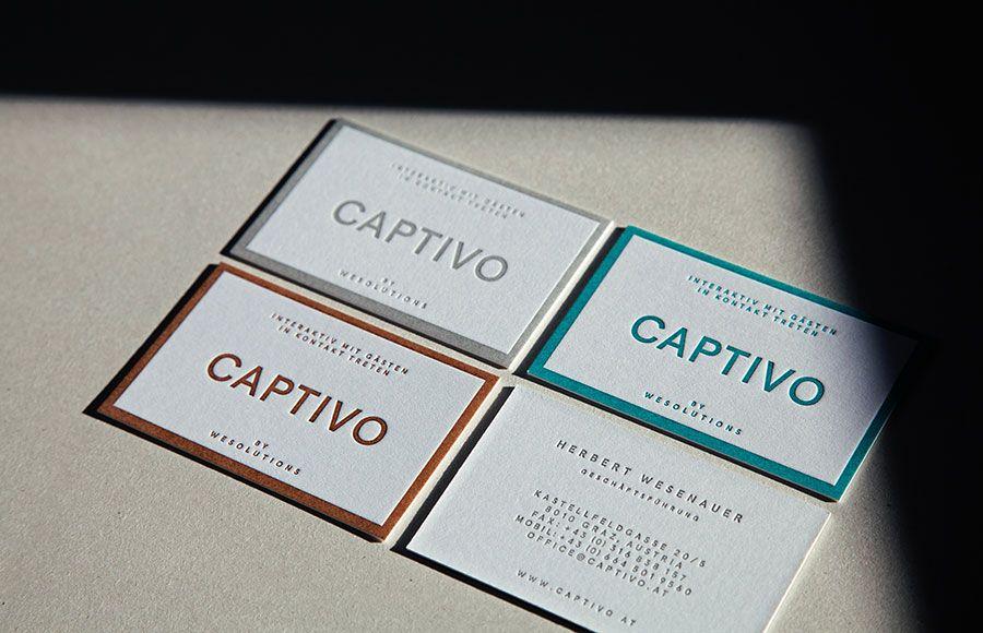 Captivo - Business Card Design Inspiration | Card Nerd | Business ...