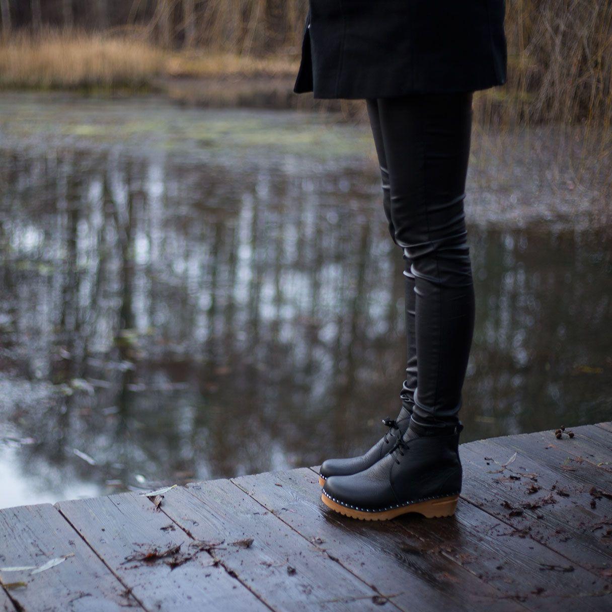 Morris Black in 2019 | Clog boots, Black boots, Boots