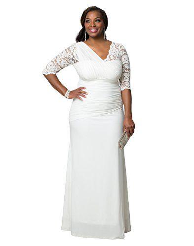 Kiyonna Women\'s Plus Size Elegant Aisle Wedding Gown 1X ...
