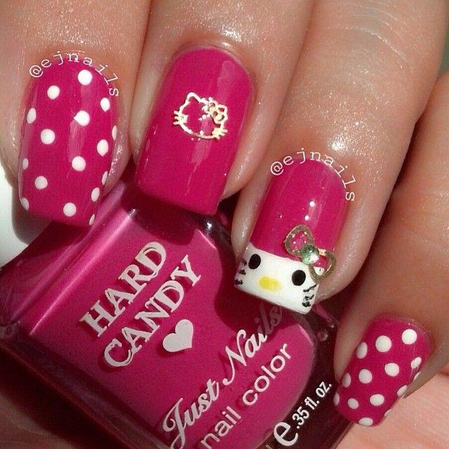 Cute Hello Kitty Nails Cute Nails Pinterest Hello Kitty Nails