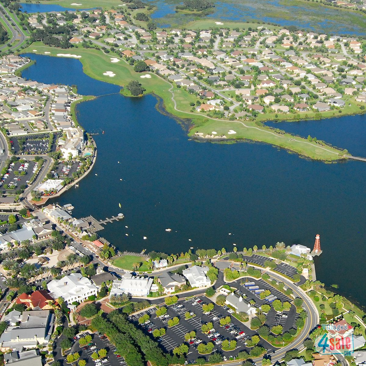 Aerial Photography Of The Villages Lake Sumter Landing