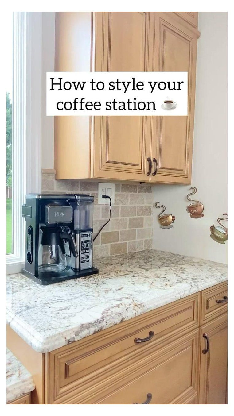 small kitchen coffee station