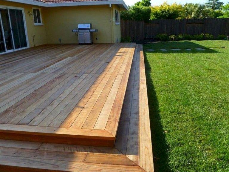 55 Beautiful Wooden Deck Design Ideas Page 23 Of 60 Large Backyard Landscaping Backyard Patio Backyard