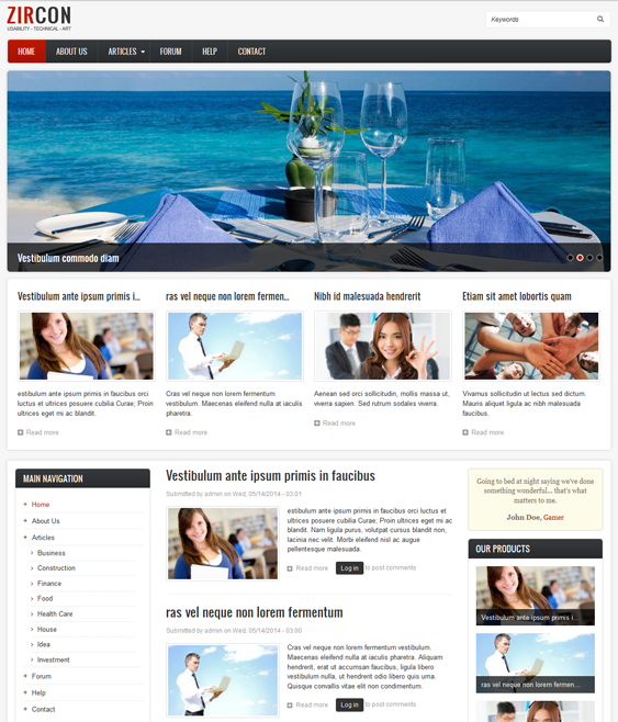drupal themes with slideshow