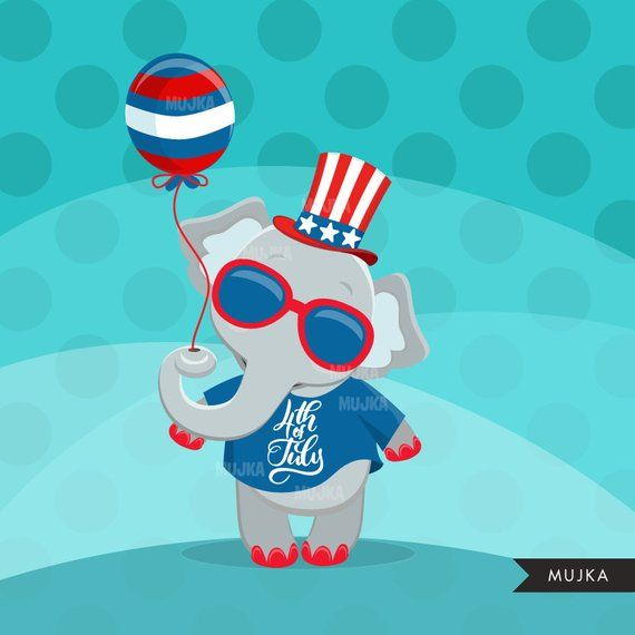 4th of july simple. Th animals clipart