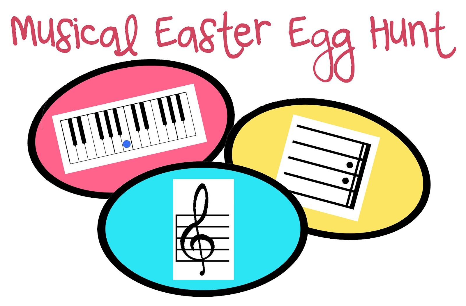 New Printable Musical Easter Egg Hunt With Images