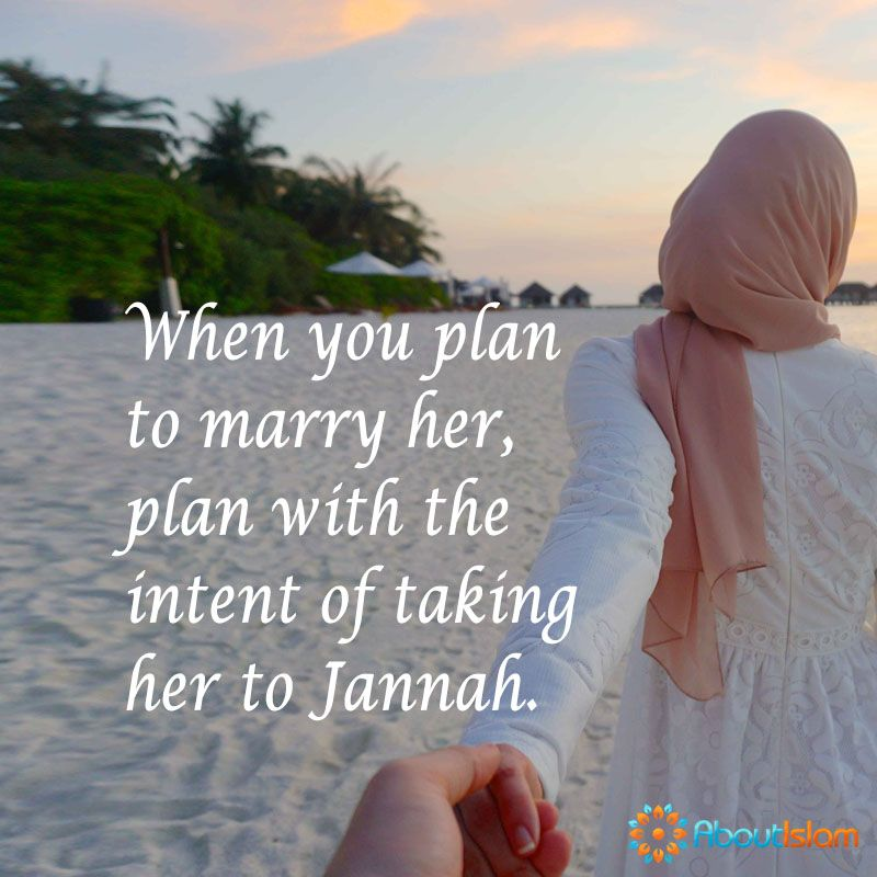 Have The Intention Of Taking Her To Paradise Marriage Paradise