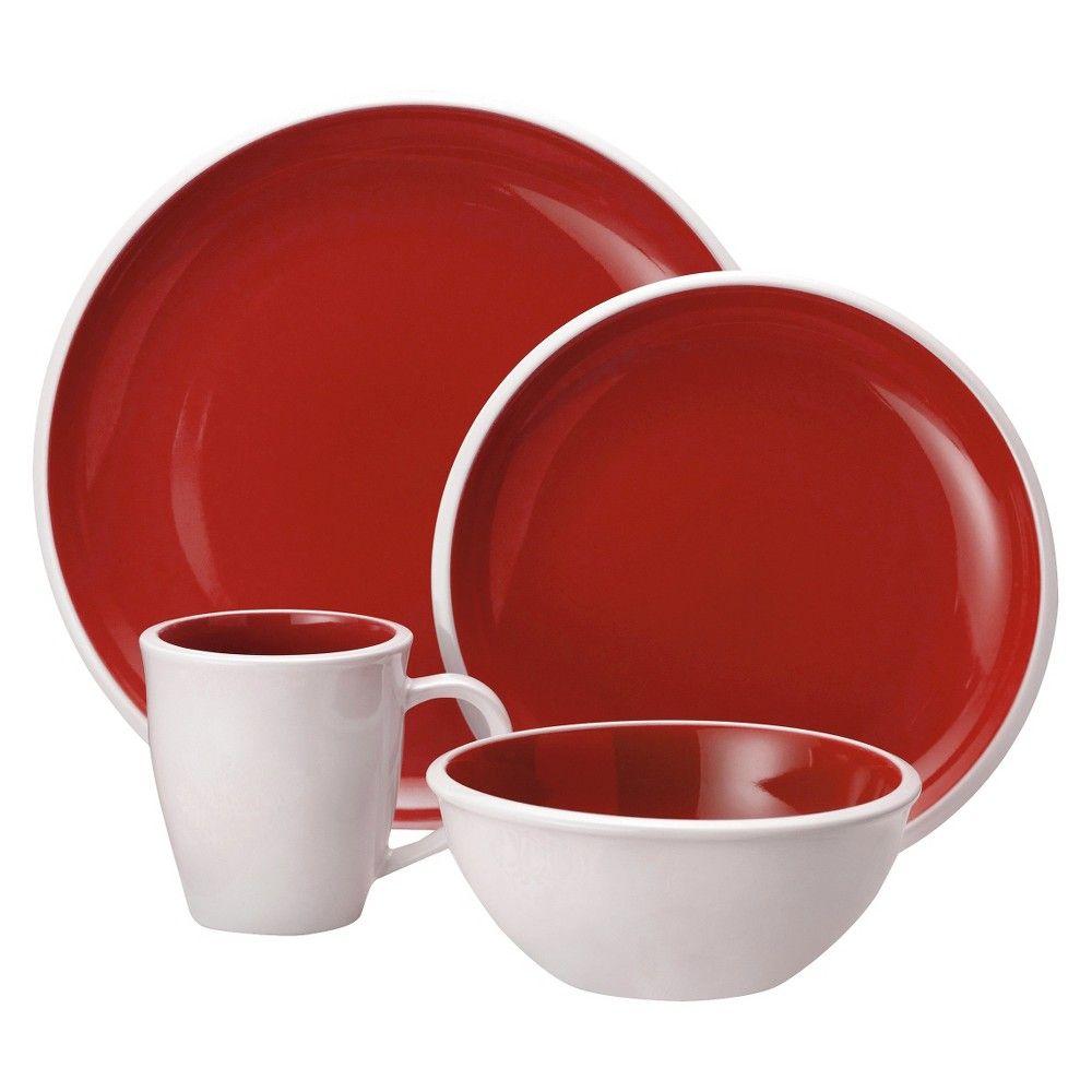 Rachael Ray 16 Piece Dinnerware Set Red  sc 1 st  Pinterest & Rachael Ray 16 Piece Dinnerware Set Red   Products