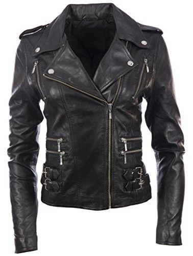 nuevo concepto 1aee1 589dc Chaqueta de cuero negra #chaquetasdecuero #chaquetasmujer ...
