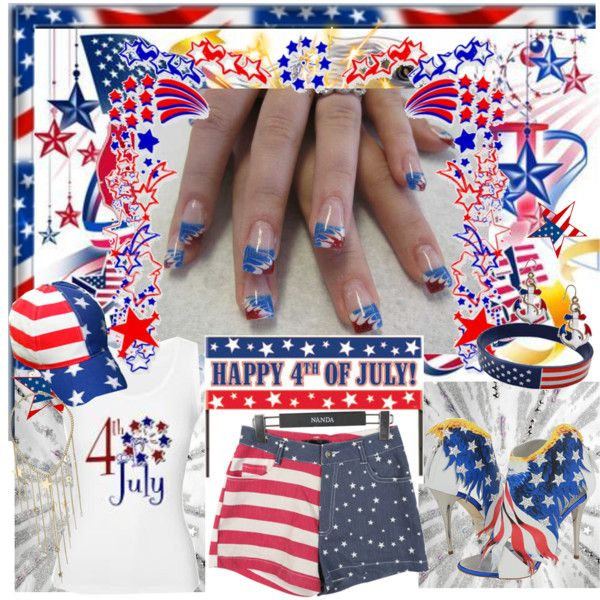 """HAPPY 4TH OF JULY,  "" by mrsbeamer on Polyvore"