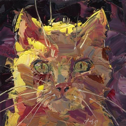 Orange Tabby B Rex Stewart Cat Art Original Fine Art Art
