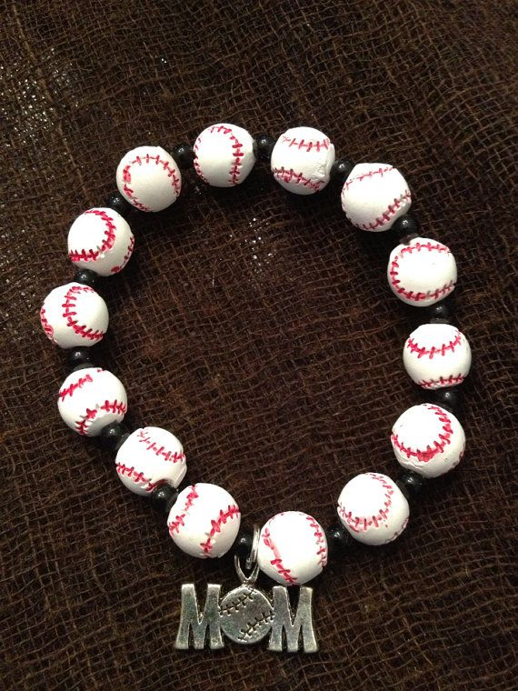 Baseball Mom Bracelet By Beckyschunkystuff On Etsy 12 00