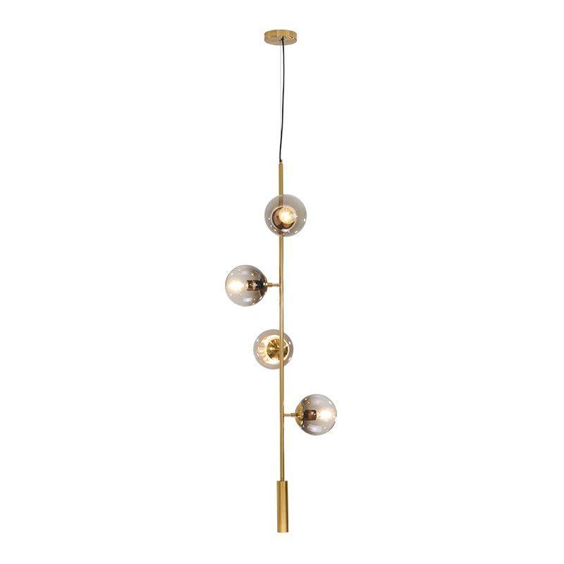 Nordic Gold Led glass Chandelier Modern Crystal Ball Glass