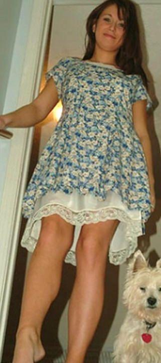 Sister Wearing Slip Dress Just Wee Bit Short