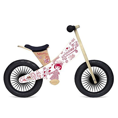 Kids Balance Bikes Kinderfeets Retro Princess Wooden Balance Bike You Can Find More Details By Visiting Wooden Balance Bike Balance Bike Balance Bicycle