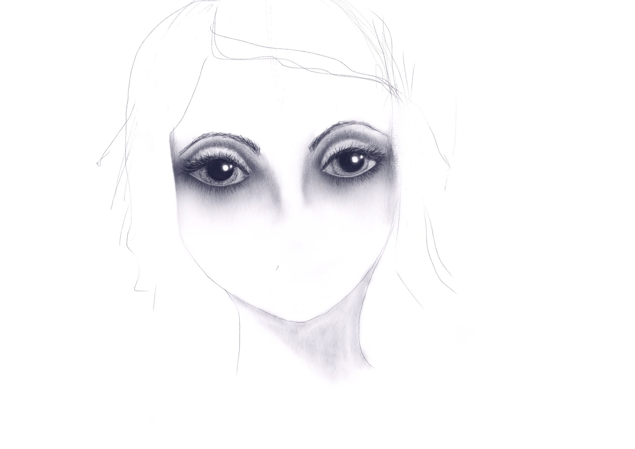 The eyes have it with technical and hb  pencils