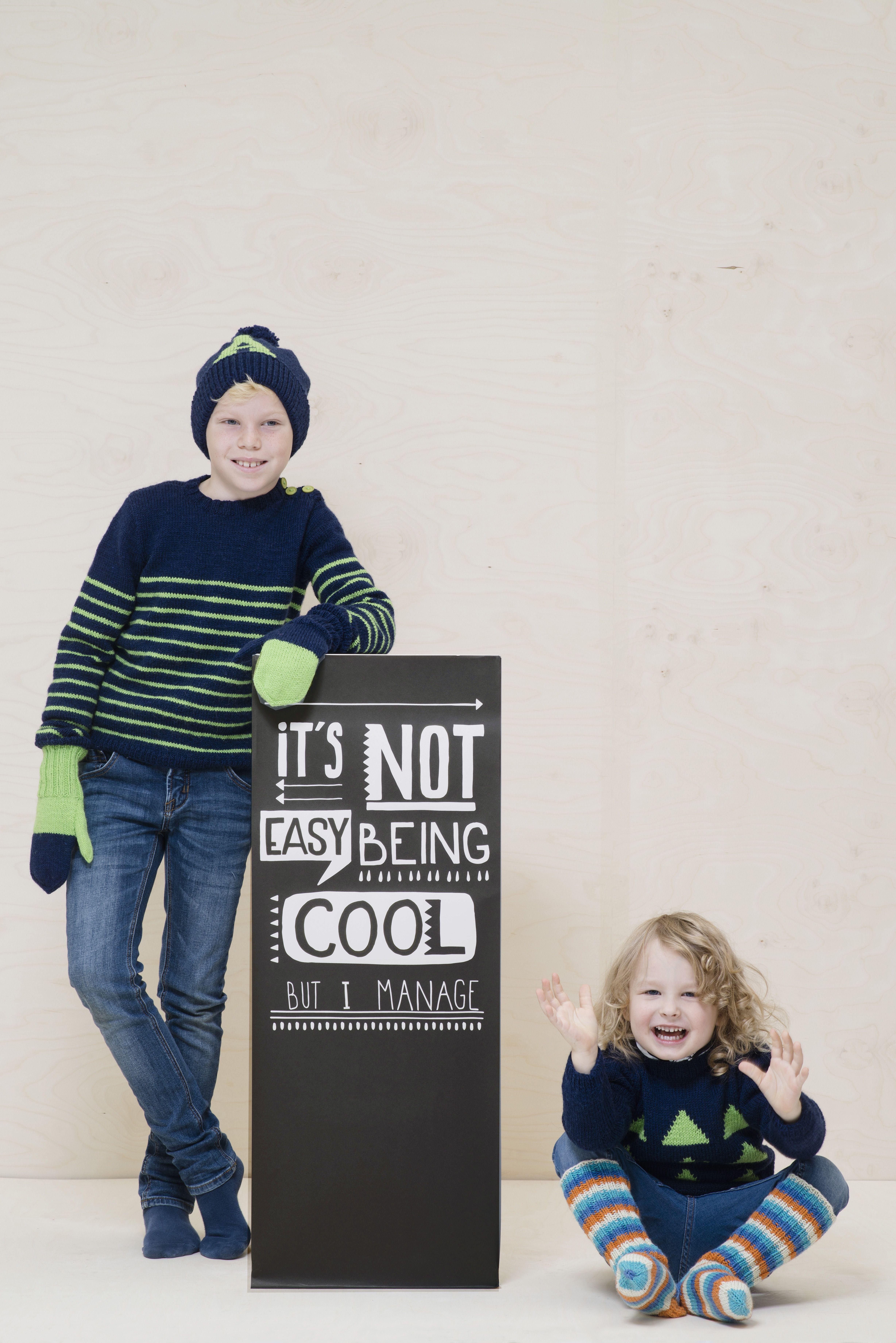 Lapsen raidallinen neulepusero Novita Nalle   Novita knits
