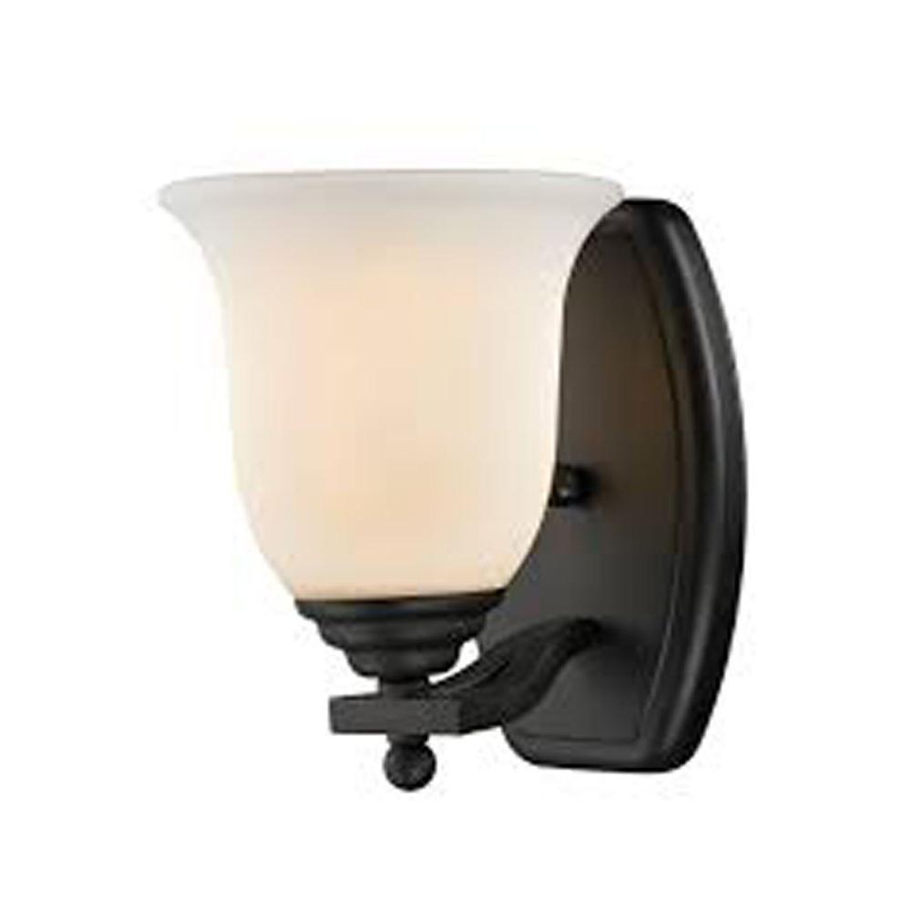 Photo of Filament Design Lawrence 1-Light Bronze Incandescent Bath Vanity Light-CLI-JB702-1V-BRZ – The Home Depot