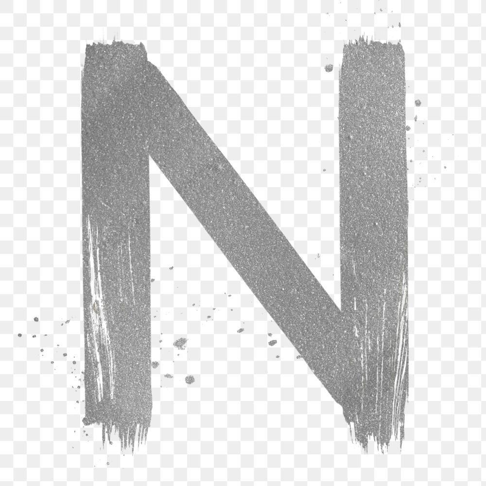 Transparent Letter N Silver Brush Stroke Font Free Image By Rawpixel Com Hein Brush Stroke Font Brush Stroke Png Brush Strokes