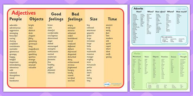 Word Mat Pack - Adjectives, Adverbs and Verbs - This great ...