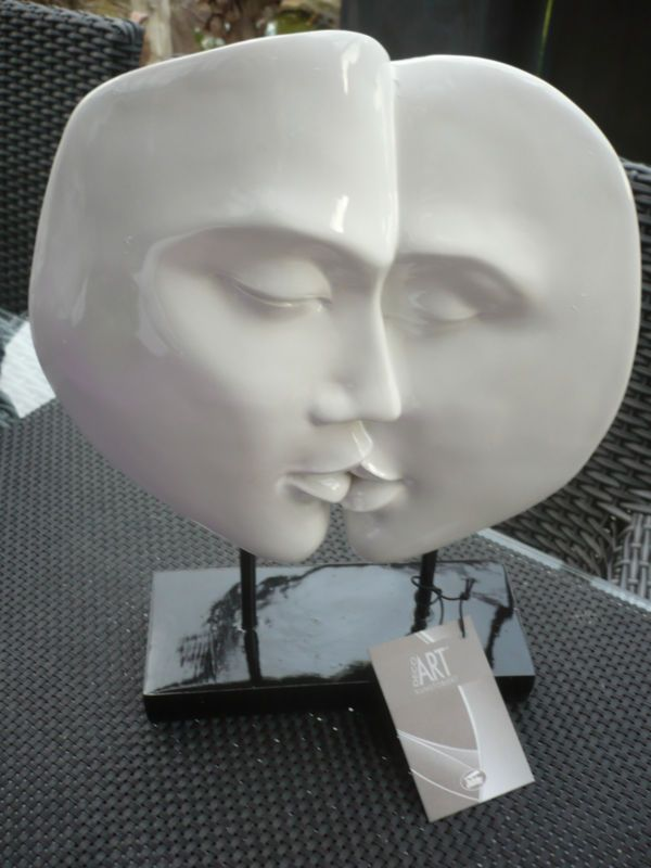 Casablanca design skulptur faces wei h28 cm hochzeit paar traumpaar ku 59952 art - Casablanca design bilder ...