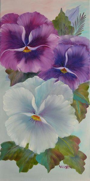 bob ross pansies paintings flowers pinterest malen stiefm tterchen und gemalte bilder. Black Bedroom Furniture Sets. Home Design Ideas