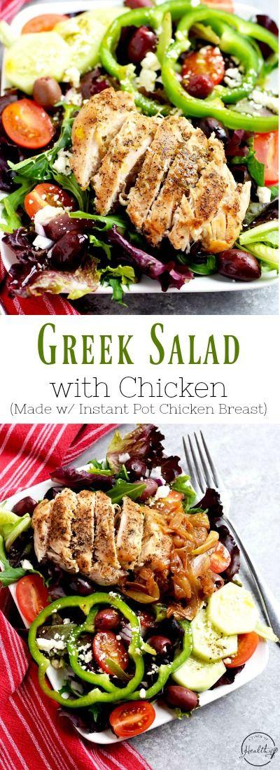 Greek Salad With Chicken Recipe Greek Chicken Salad