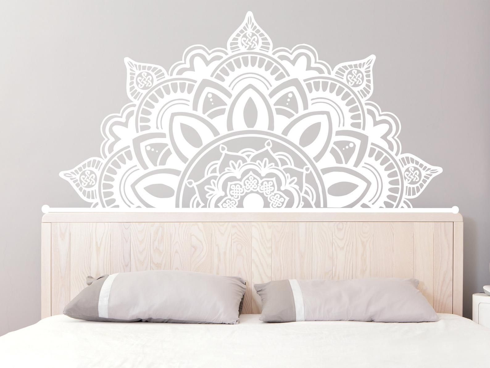 Half Mandala Wall Decals Headboard Vinyl Sticker Bohemian Boho Home Decor MS782