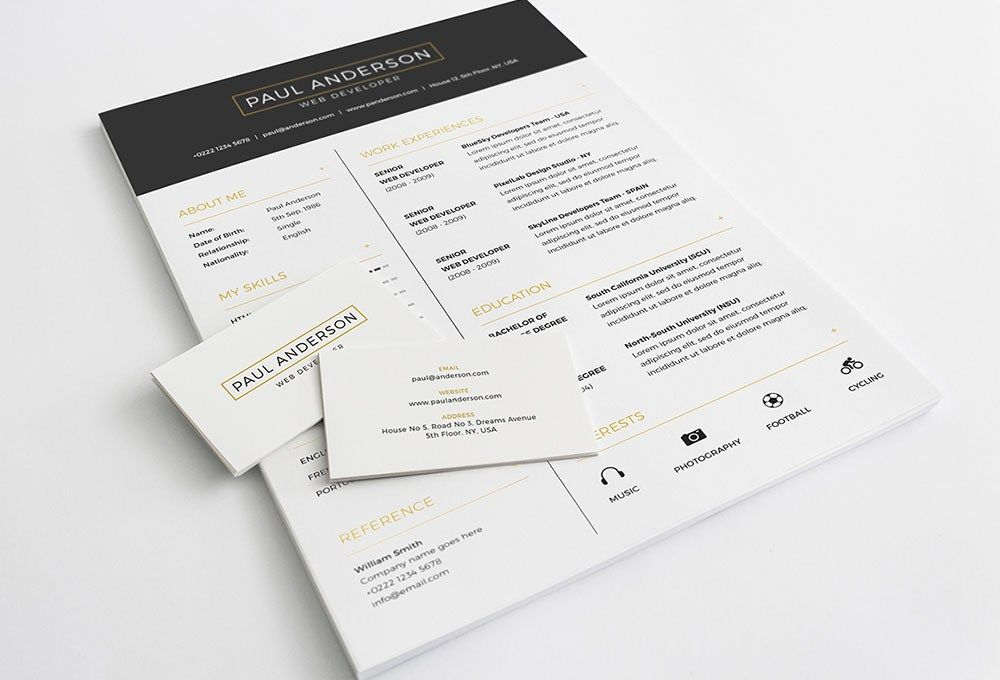 Free Resume Template, #A4, #Business_Card, #Cover_Letter, #CV - free graphic resume templates