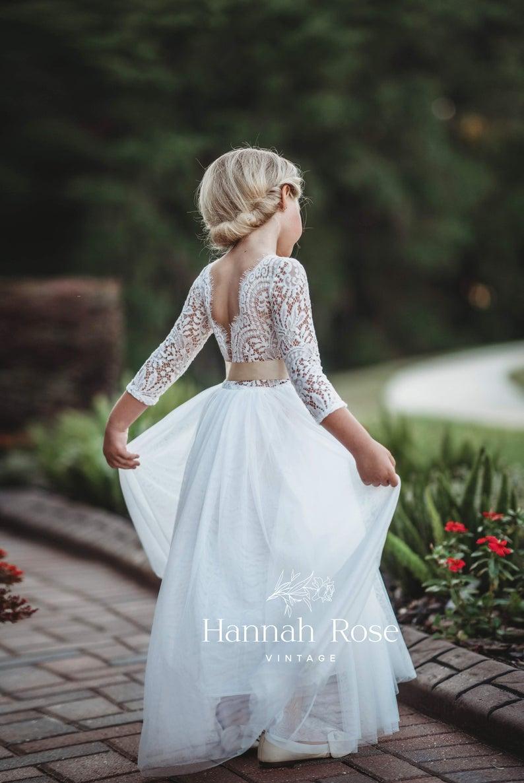 Flower Girl Dress Beautiful White Or Ivory Long Flowing Etsy In 2021 Flower Girl Gown White Flower Girl Dresses Flower Girl Dresses Boho [ 1186 x 794 Pixel ]