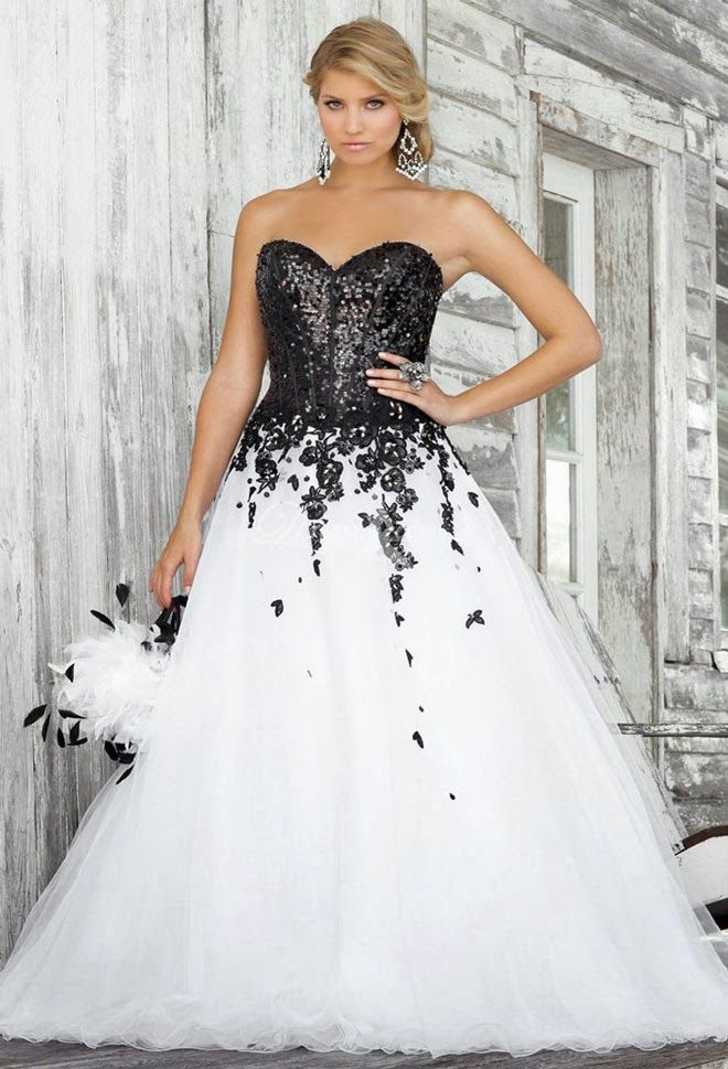 White And Black Lace Wedding Dress, Black lace wedding dresses ...