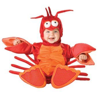 Lil Characters Unisex-baby Newborn Lobster Costume, Red/Orange, Small $42.27