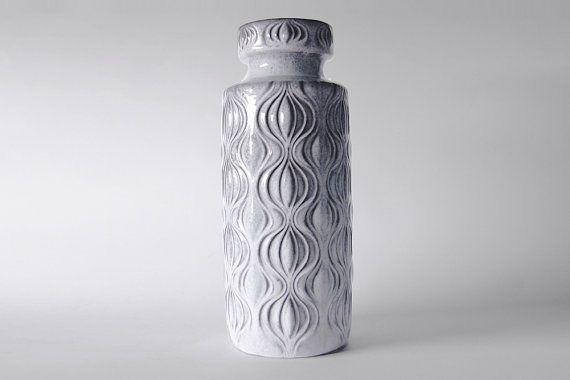 Vintage Grey Onion Floor Vase  Scheurich 1970s by 1001vintage, $118.00