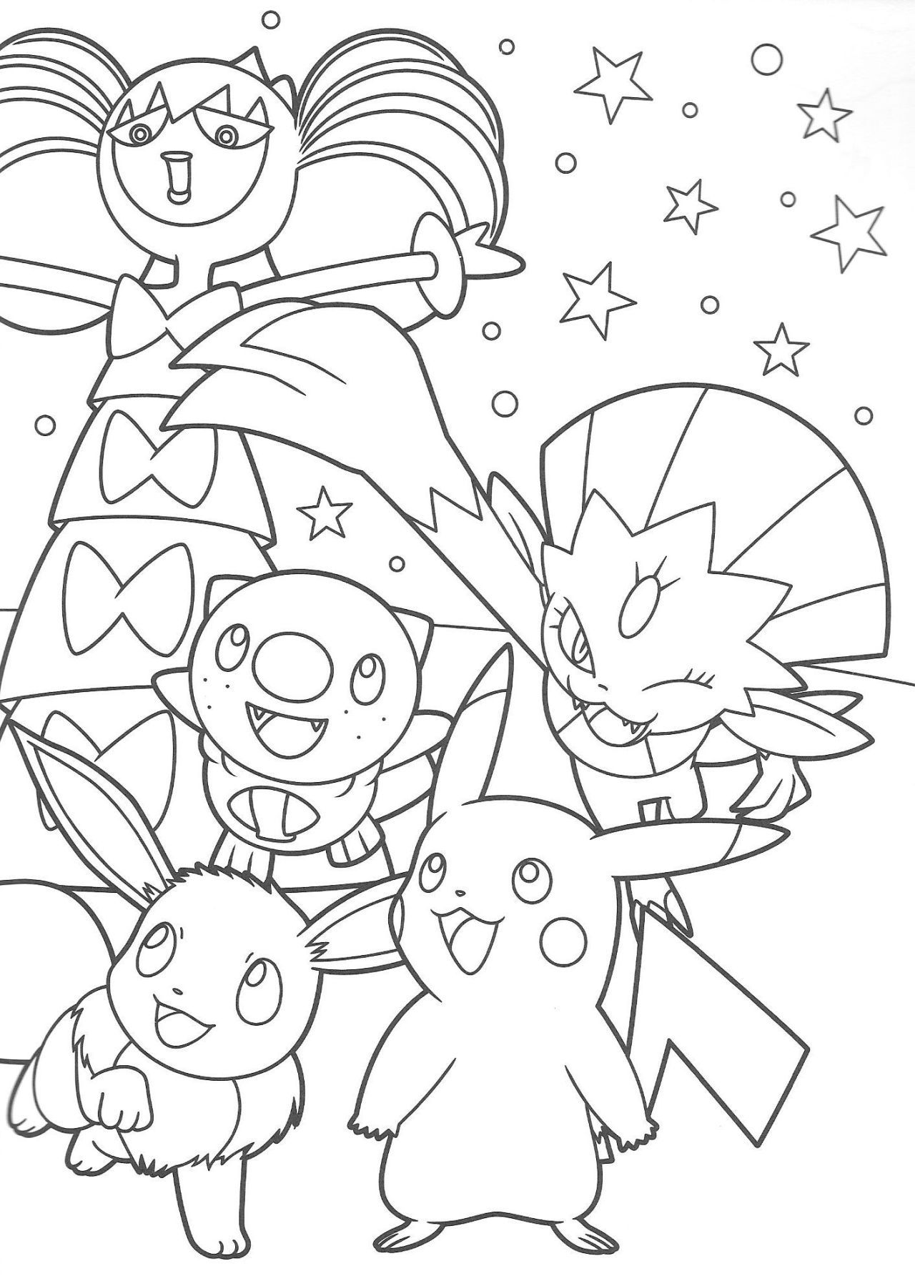 Pokescans Pokemon Coloring Sheets Pokemon Coloring Pages Pikachu Coloring Page