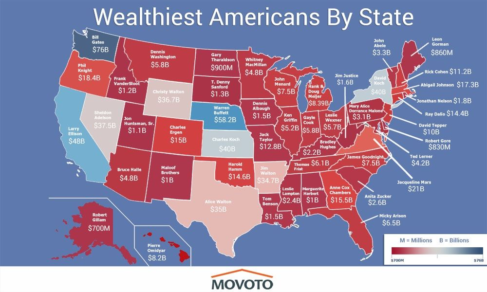 Richest Person In America By State