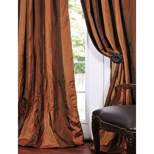 Discover More Than A Dozen Color Options In Faux Silk Taffeta Curtains.