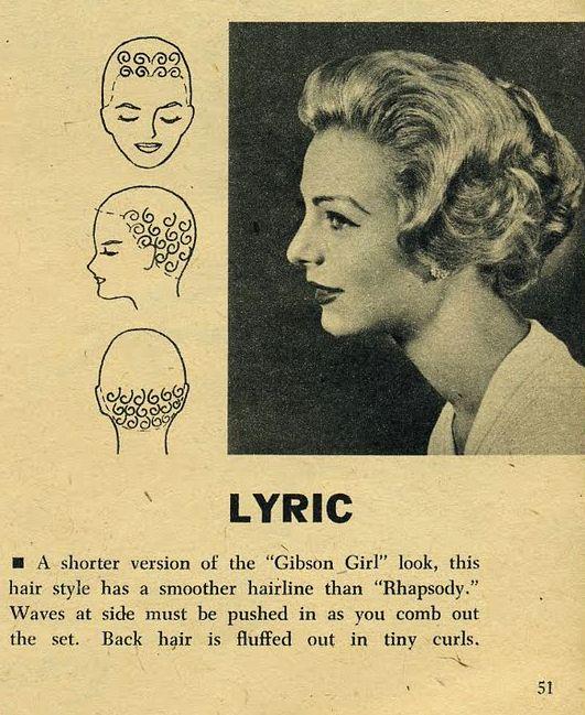pin curl diagram hopkins 6 way wiring setting patterns 1958 vintage hair in 2019 pinterest