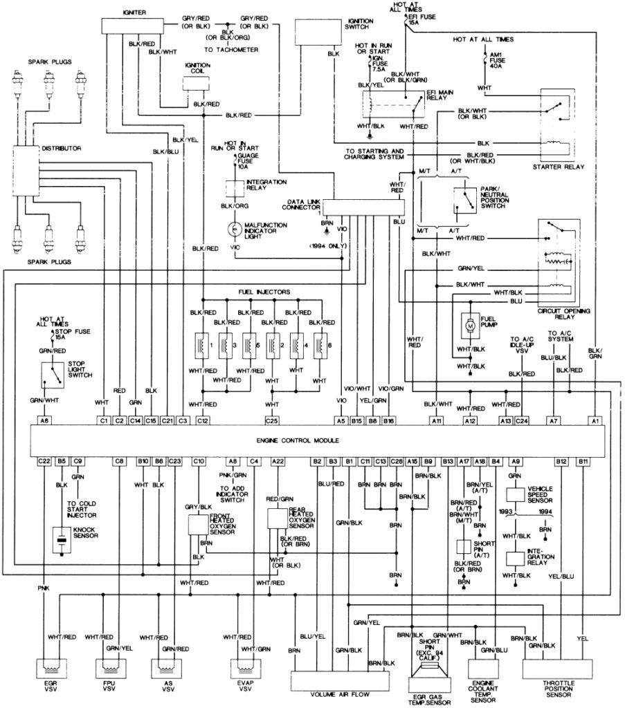 hight resolution of 1994 toyota wiring diagram wiring diagram database 94 toyota camry tail light wiring diagram 1994 toyota
