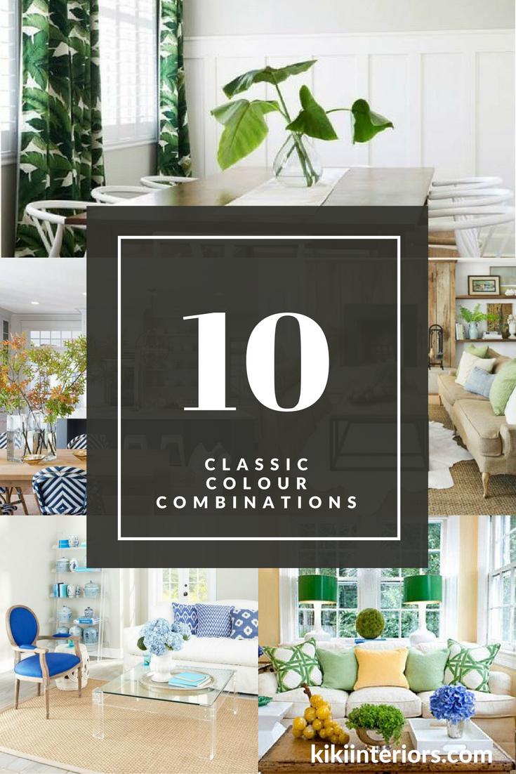 top 10 classic color combinations interior decorating home decor home styling home - Home Styling Blog