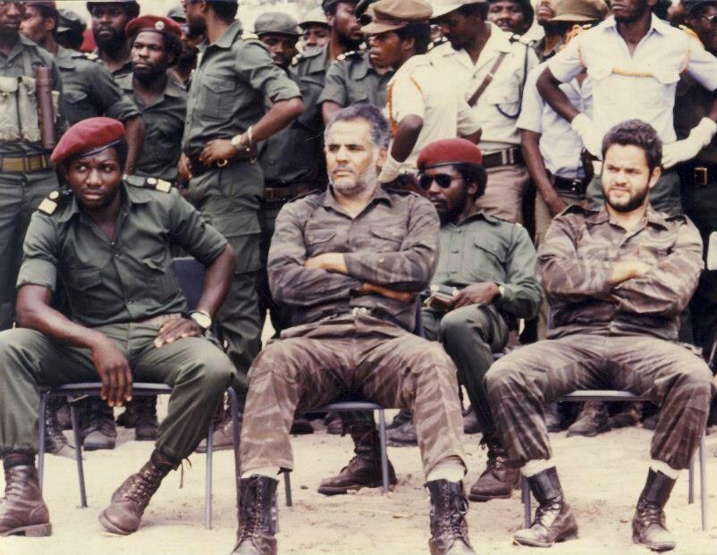 Angolan Civil War - two Cuban pilots captured by UNITA.
