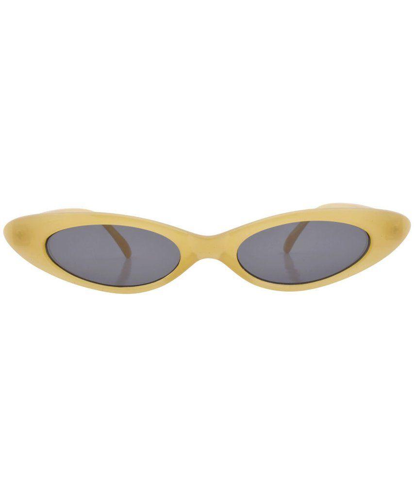 OVERSIZED EXAGGERATED VINTAGE RETRO Cat Eye Style SUN GLASSES Large Beige Frame