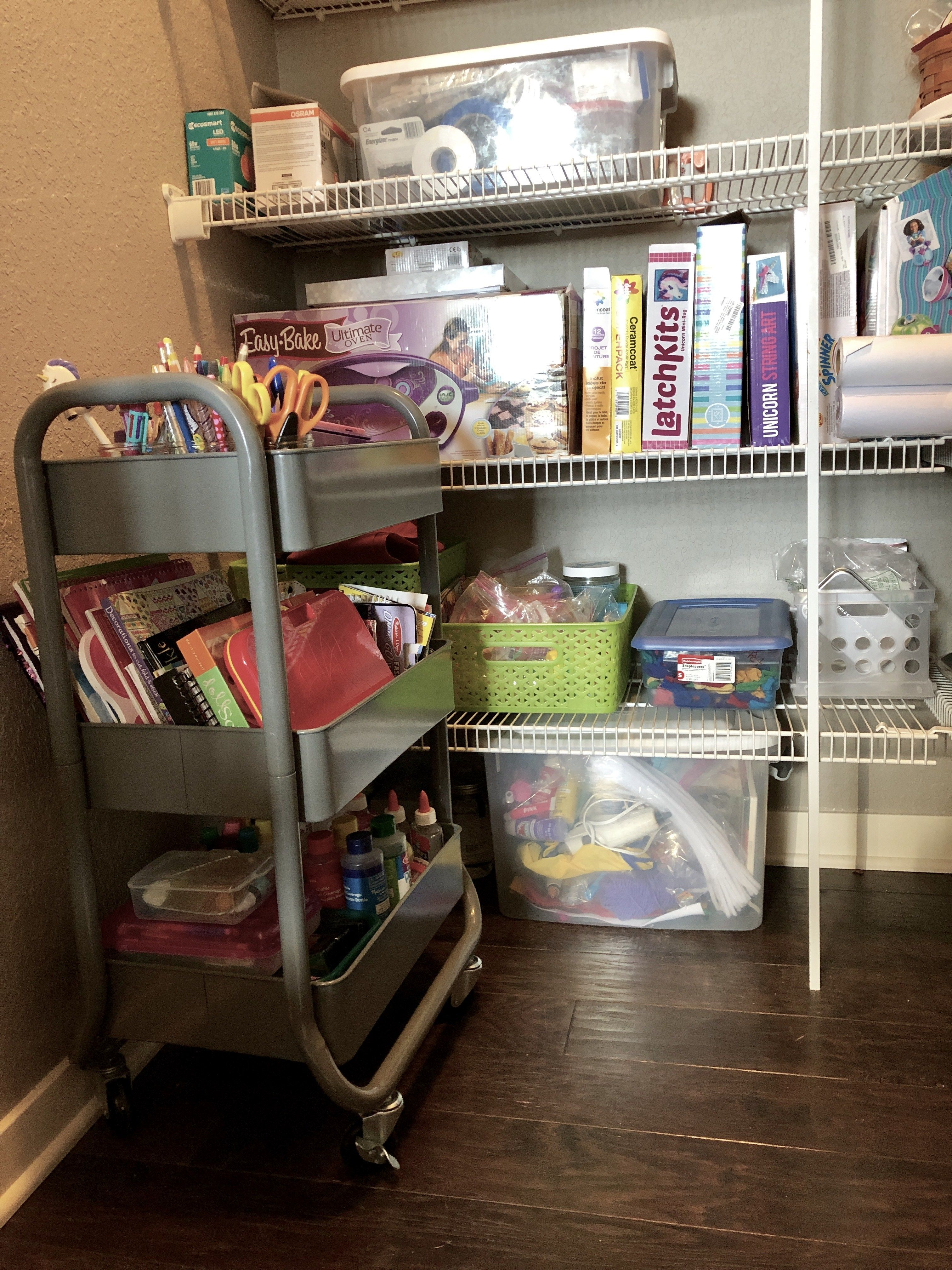 Simple Kids Art Supply Storage Solution Create An Cart