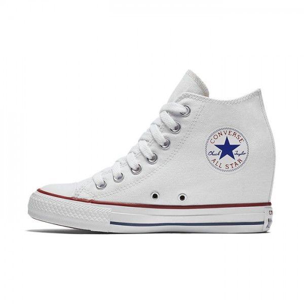 Converse Chuck Taylor All Star Lux Wedge Mid ( White ) | Chucks ...