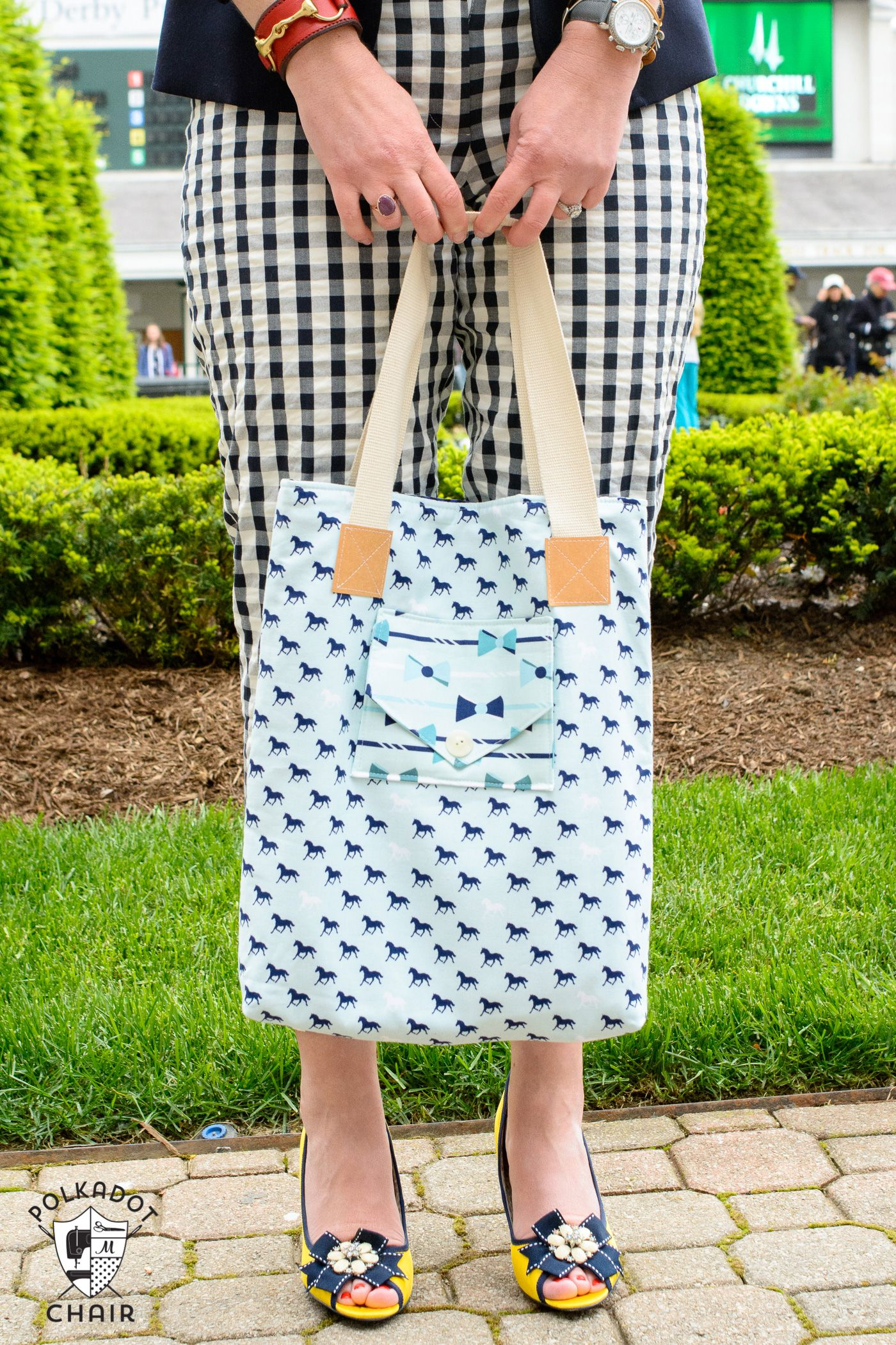 A New Tote Bag Sewing Pattern - The Polka Dot Chair